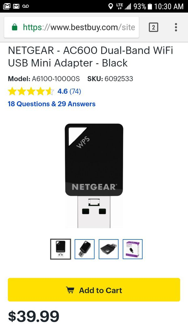 NETGEAR A6100 WiFi USB Mini Adapter - network adapter for Sale in Tucson,  AZ - OfferUp