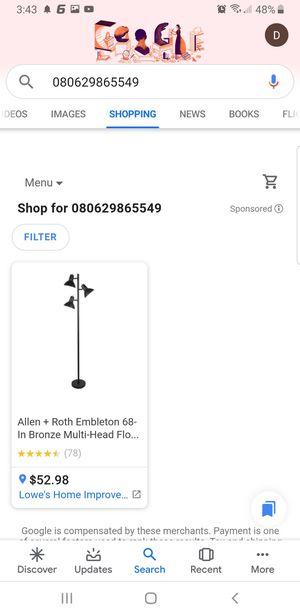 Allen + Roth Embleton 68 inch Bronze Multi Head Floor Lamp for Sale in Dallas, TX