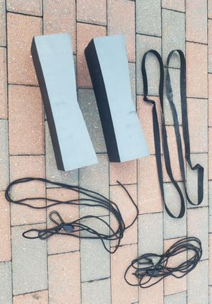 Kayak roof top pads with tie-down adjustable straps for Sale in Morton Grove, IL