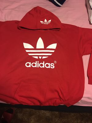 ADIDAS Logo Designed Red Hoodie (Large Adult) $35 for Sale in Upland, CA