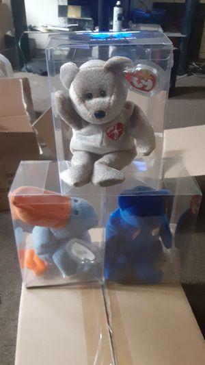 Original Beanie Babies 1999 signature bear , original club bear Clubby , original Scoop for Sale in Los Angeles, CA