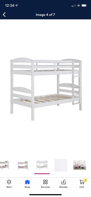 White twin bunk bed for Sale in St. Cloud, FL