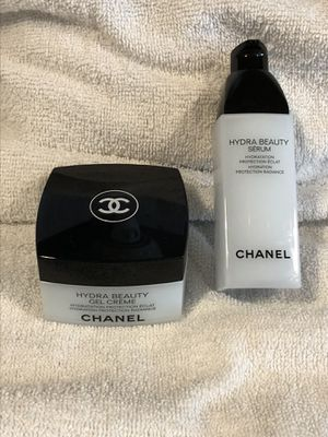 Authentic CHANEL Hydra Beauty Creme & Serum set makeup products - New!! for Sale in Plainfield, IL