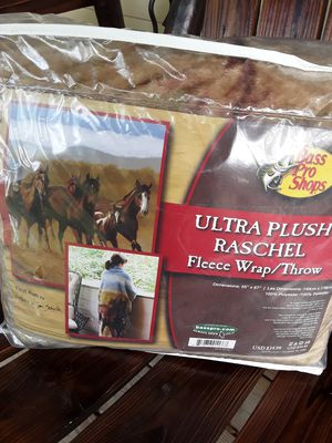 Horse Fleece Wrap /Throw,,,,55x67,,,new,,never used. for Sale in Linden, PA
