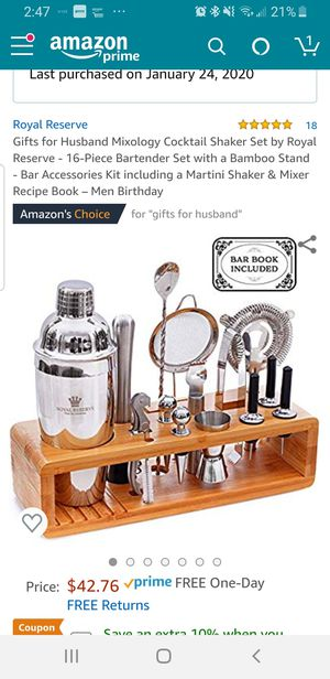 Cocktail shaker set for Sale in Fresno, CA
