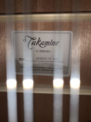Takamine 12 string guitar for Sale in Tacoma, WA