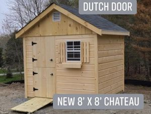 New 8' x 8' Pine Chateau Shed with Dutch Door for Sale in Wakefield, MA