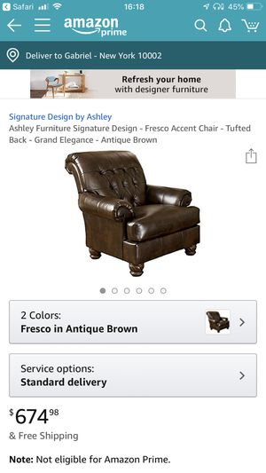 Ashley Chair & Ottoman - Antique Accent for Sale in New York, NY