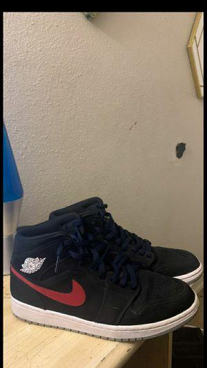 Jordan 1 multi color swoosh Size~10 for Sale in Oceanside, CA