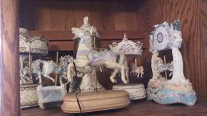 Unicorn porcelain figurines/statues/carousel/snoglobes collectable for Sale in San Diego, CA