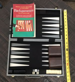 Backgammon Game Set with Book for Sale in Port St. Lucie, FL