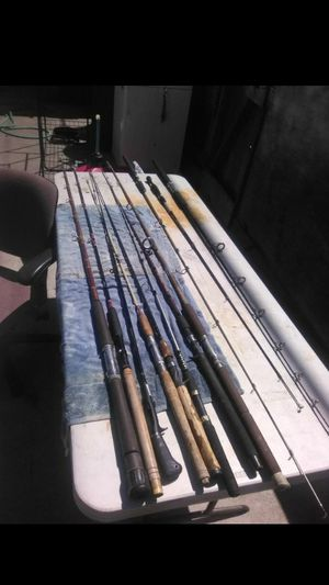 All types of fishing poles and gear for sale prices ranging from $20 to $40 for Sale in Antioch, CA