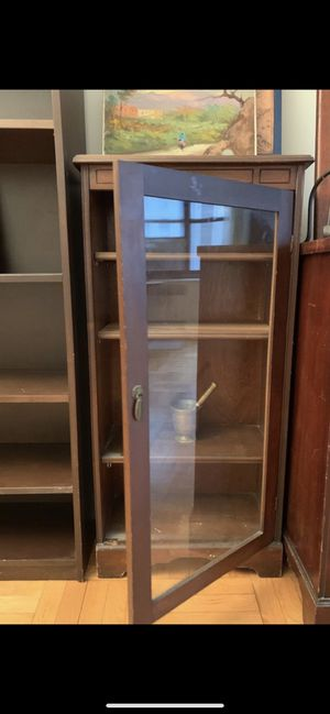 Gorgeous antique vitrine, glass door for Sale in New York, NY