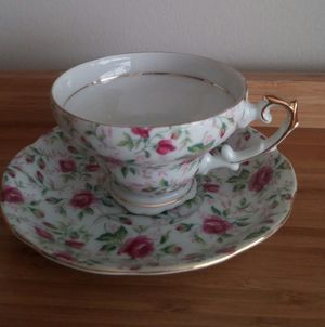 Lefton Handpainted Vintage China Teacup And Saucer for Sale in Montgomery Village, MD