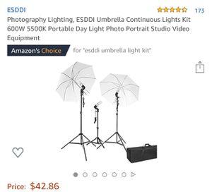 Umbrella lighting kit for Sale in Rancho Cucamonga, CA