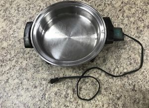 Stainless Steel Electric Pan with Variable Temperature Settings for Sale in Decatur, GA