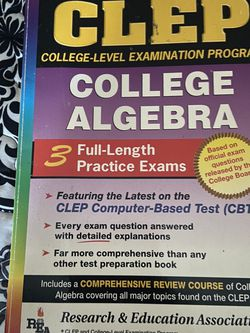 CLEP College Algebra Study Book. for Sale in Las Vegas,  NV