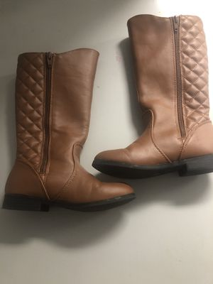 Arizona Kid Girls Riding Boots Size 13 Ginger Quilted for Sale in Pensacola, FL