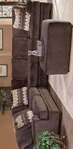 Olympian chocolate sectional with ottoman for Sale in Houston, TX