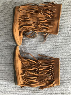 Fringe moccasins! for Sale in Yucaipa, CA