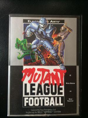 Sega Genesis Mutant League Football game Cart 1993 for Sale in Eugene, OR