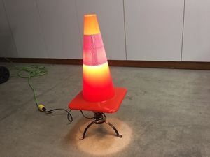 Kids construction cone desk lamp or nightlight for Sale in Happy Valley, OR