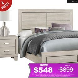 **TODAY ONLY** 4 pcs Bedroom Queen Bed + Nightstand + Dresser + Mirror (Mattress NOT included) H1525 for Sale in Compton,  CA