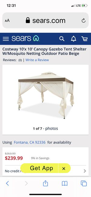 10x10 outdoor Gazebo tent shelter mosquito netting patio beige for Sale in Fontana, CA
