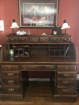 Wood Roll Top Desk for Sale in Colesville, MD
