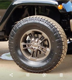 "Five 17"" BRONZE alloy Jeep wheels for Sale in Frederick, MD"