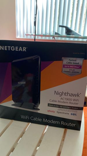 Netgear AC1900 wifi cable modem router- DOCSIS 3.0 for Sale in Fort Lauderdale, FL