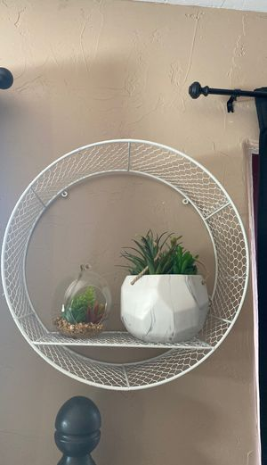 Shite or silver circular wall shelves (3) for Sale in Redlands, CA