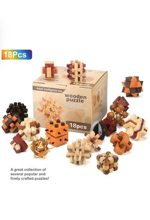 3D Wooden Brain Teaser Puzzle Diamond Cube Interlocking Jigsaw Puzzles for Teens and Adults #2 - Challenge Your Logical Thinking - Ideal Gift for Sale in Los Angeles, CA