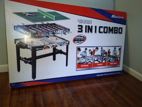 3 in 1 game table new in box