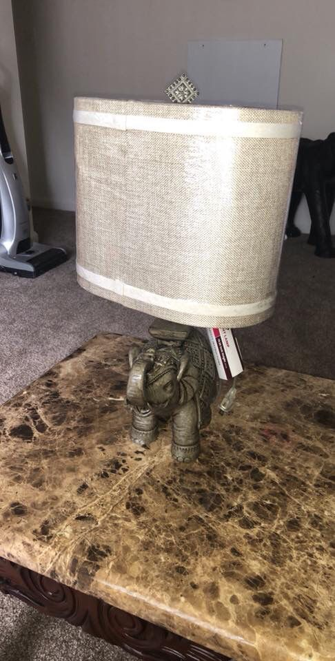 FOR SALE ELEPHANT LAMP