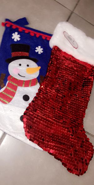 Christmas stocking the one to the right is brand new I'm selling both for eight dollars for Sale in Miami, FL