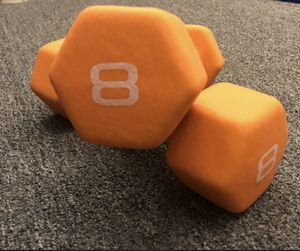 CAP 8LB Neoprene Hex Dumbbell Hand Weight Pair Set 16LBS for Sale in Los Angeles, CA