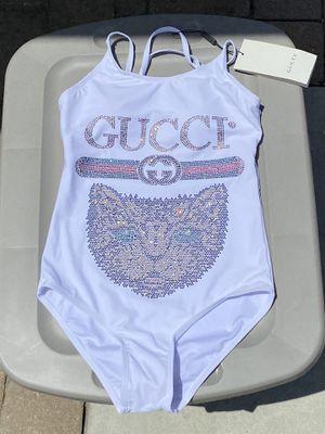 New Gucci white cat sparkle sequin swimsuit for Sale in Pico Rivera, CA