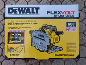 DeWalt DCS520T1 60V MAX FLEXVOLT 6 1/2 inch Track Saw Kit for Sale in Pompano Beach, FL