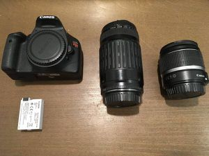 CANON T2i CAMERA w/ 2 LENSES for Sale in San Diego, CA