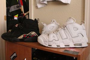 Nike Uptempo and Air Jordan 8 Sz 12 for Sale in North Las Vegas, NV