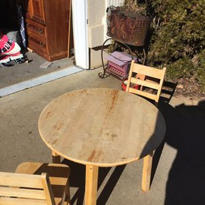 Child's Table And Two Chairs for Sale in Spartanburg, SC