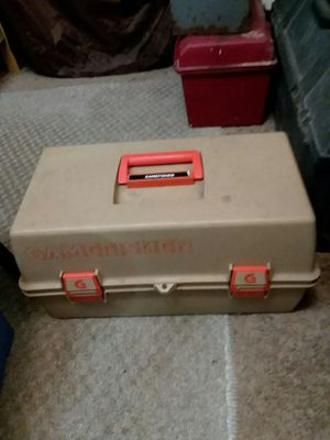 Fishing tackle box and reel for Sale in Cleveland, OH