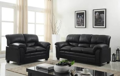 Parker Black Sofa & Loveseat for Sale in Round Rock,  TX
