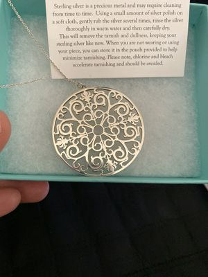Tiffany & Co. Sterling Silver Pendant Necklace for Sale in Mesa, AZ