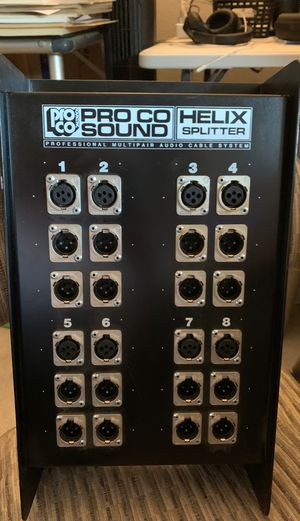 Pro Co Sound Inc Helix Splitter Professional Multipair Audio Cable System for Sale in Glendale, AZ