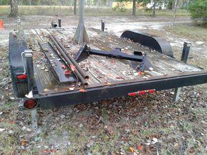 Used 7x14 HD Flat Deck Trailer W/ 4 Side Jacks For Sale for Sale in Orlando, FL