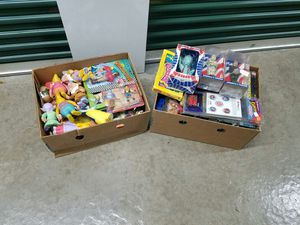 2 Boxes of Vintage Toys 80s 90s + for Sale in Indian Island, ME