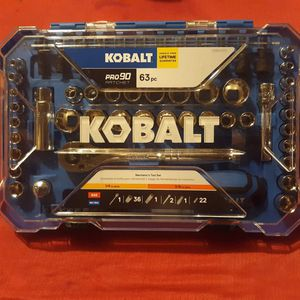 Kobalt Pro90 Rachet 63pc Mechanics Tool Set for Sale in Wichita, KS