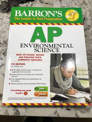 Barron's AP Environmental Science, 6th Edition for Sale in Fort Washington, MD